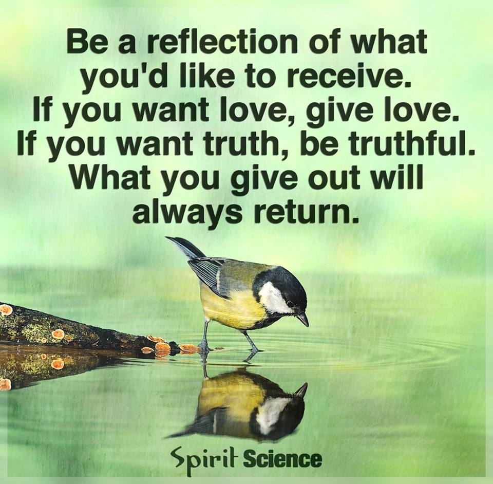 Be A Reflection Of What Youd Like To Receive If You Want Love