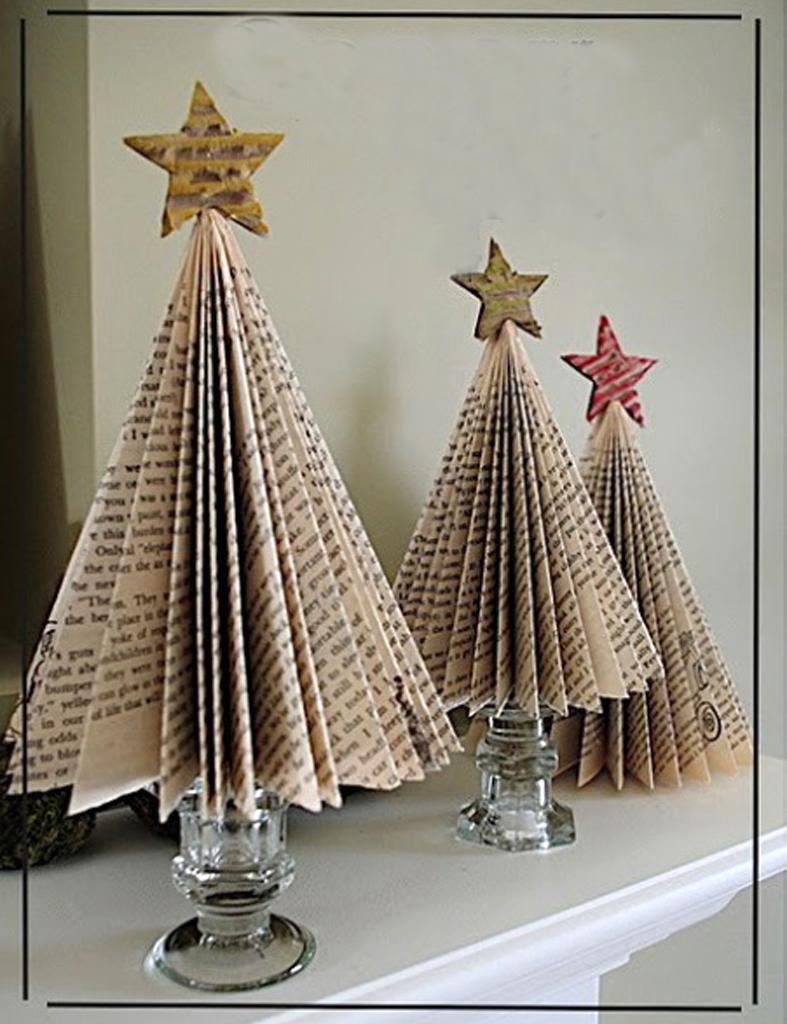 Detallelogia rboles de navidad reciclando papel for Como hacer un arbol de navidad original