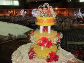 Pulut Kuning Perkahwinan - 3 tier