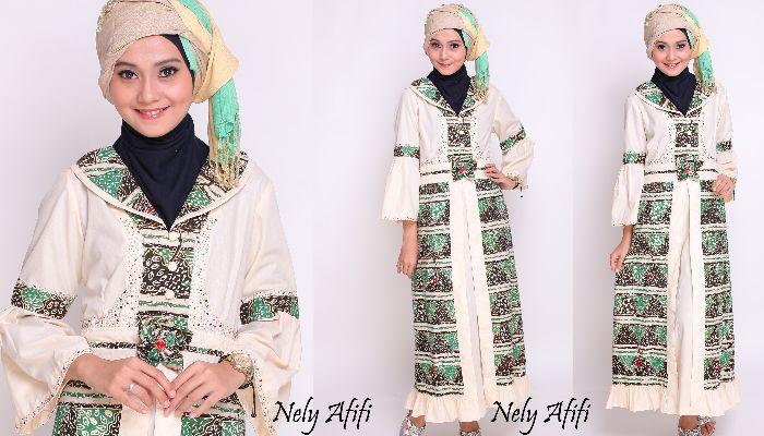 9 model baju gamis variasi batik terbaru Model baju gamis variasi terbaru