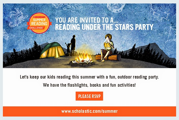 Reading Under the Stars invitation
