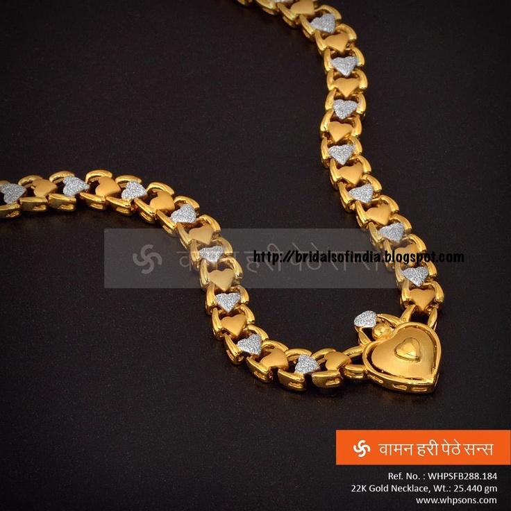 Fashion world: Lovely Heart Shaped Necklace - Waman hari pethe