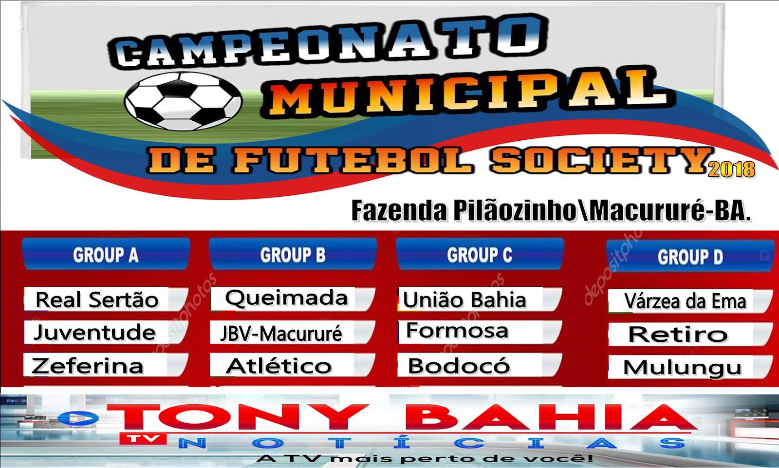 Campeonato de futebol Society 2018.