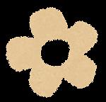 小さな花のイラスト「パステル・茶色」