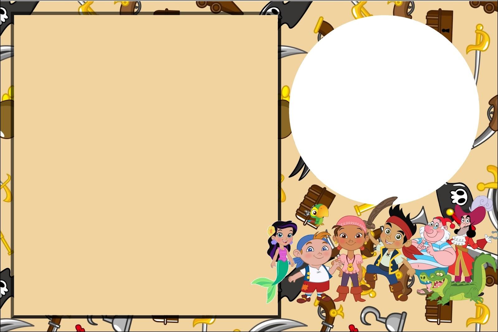 Jake And The Neverland Pirates Invitation Background