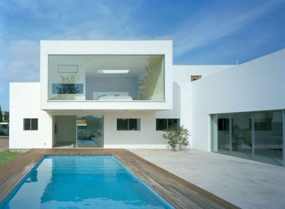 Modern minimalist villa by jonas lindvall a d for Pool villa design