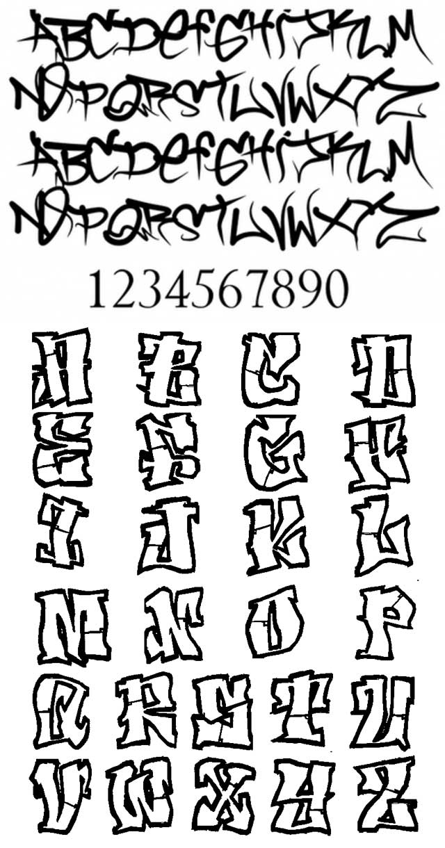 Graffiti Fonts Big Collection World