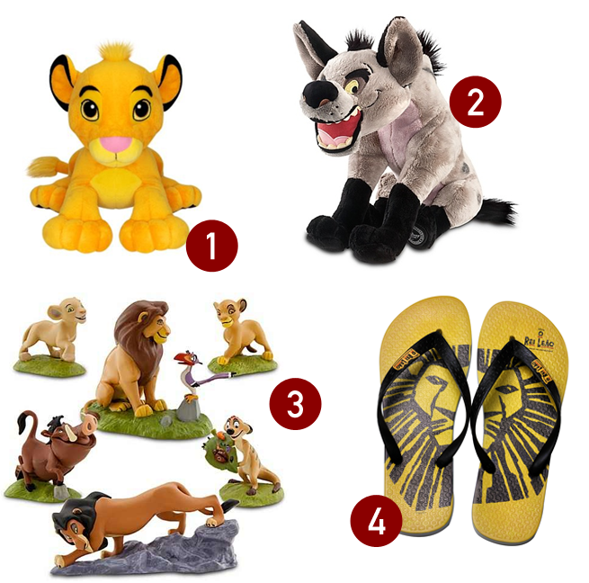 Produtos inspirados no filme O Rei Leão (The Lion King)