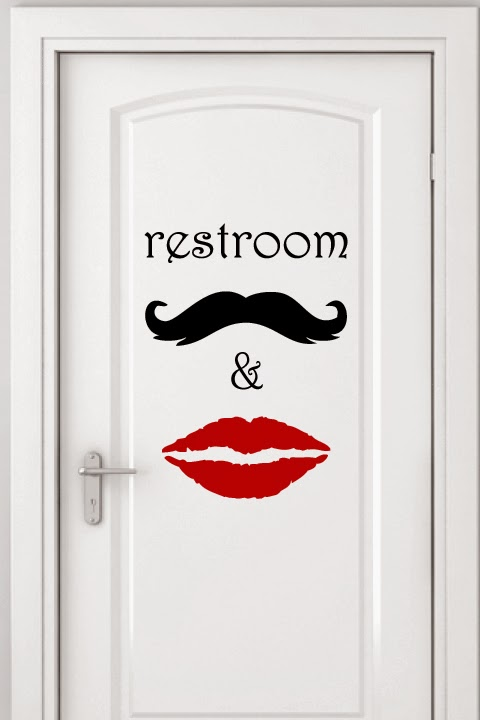 Bathroom Signage Wall Decals
