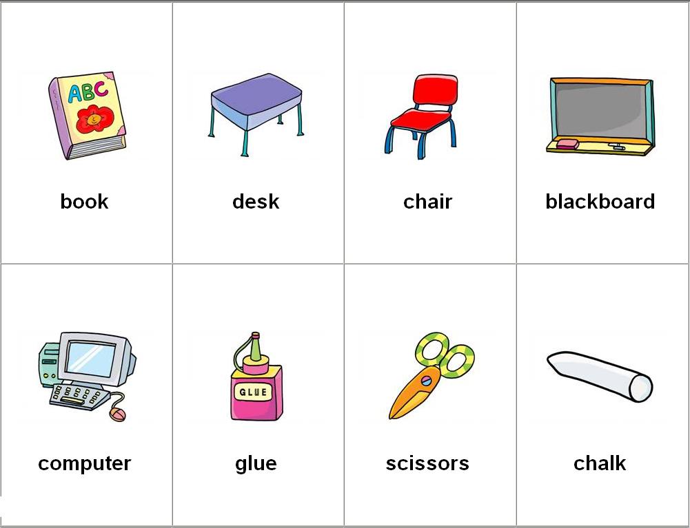 Leer y Aprender Juntos: Utiles escolares en ingles