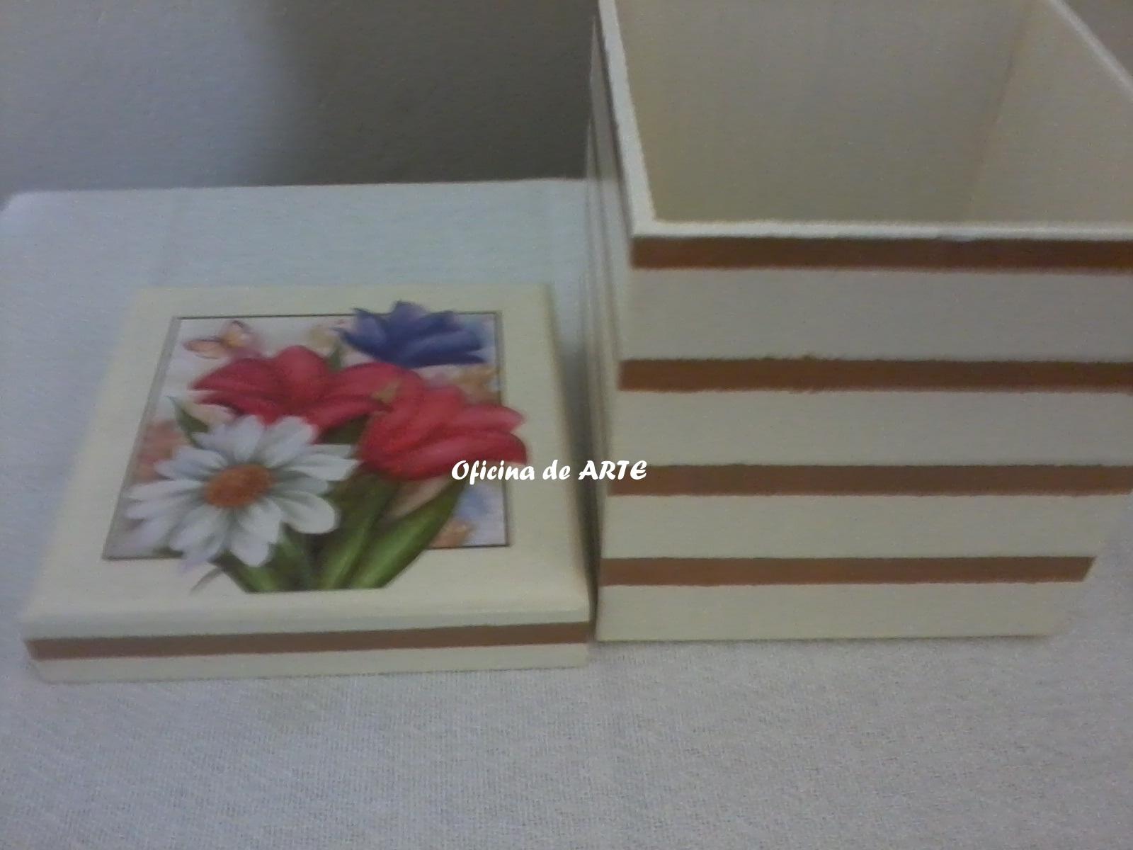 Oficina de arte caixa com listras for Oficina de caixa