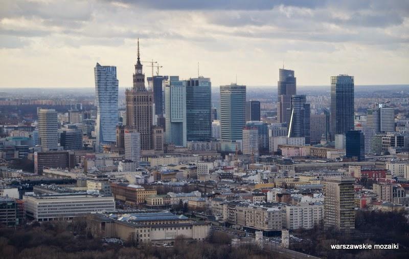 wieżowce Warszawa miasto z lotu ptaka panorama miasta stolica