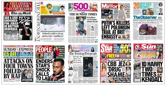 front pages jan 24
