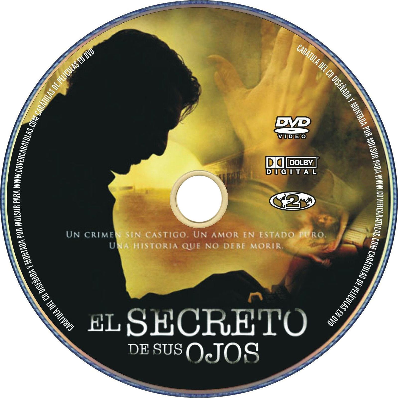 El secreto de sus ojos Dvd Label Art