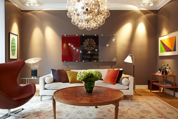 Living Room Wall Paint Colors 2015: Lounge In Beige And Neutral Colors