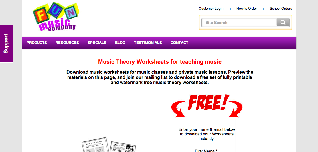 Music theory worksheets to teach the whole and half step pattern ...