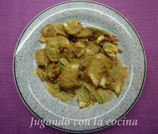 Alcachofas rebozadas o en tempura