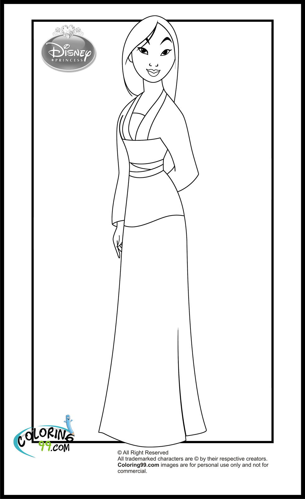 Disney Princess Coloring Pages Minister Coloring Princess Mulan Coloring Pages Free Coloring Sheets