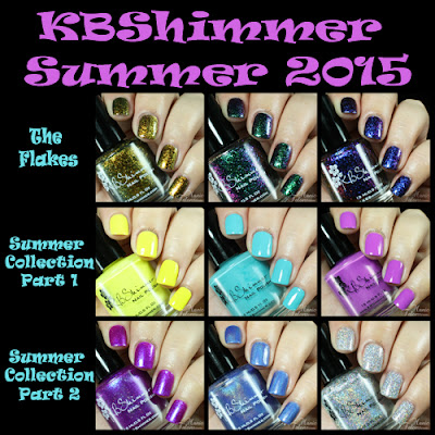 KBShimmer 2015 Summer Collection Sample Swatches