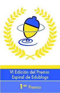 Blog ganador de la peonza de oro en Espiral Edublogs 2012  ¡Haz click y lo verás!