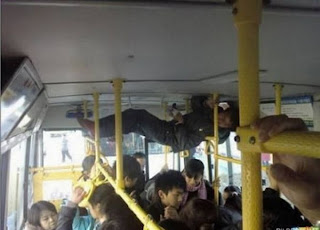 planking on bus