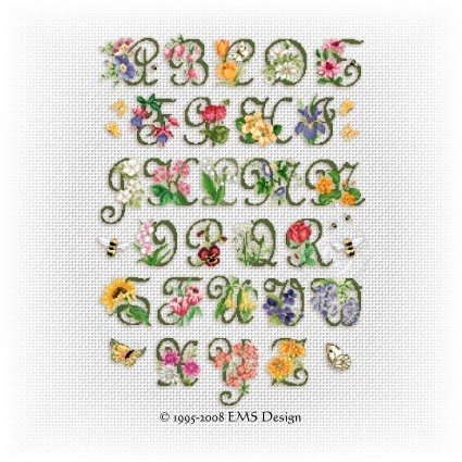 Good Life 2 Go: Free cross stitch chart: Garden Alphabet