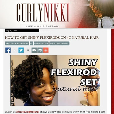 How to Get Shiny Flexirod set on Natural Hair feat. Bolden Shea Oil