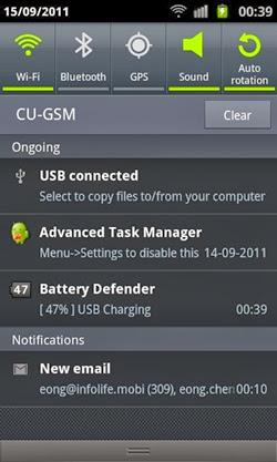 Aplicativo para Android Juice Defender - 250x417