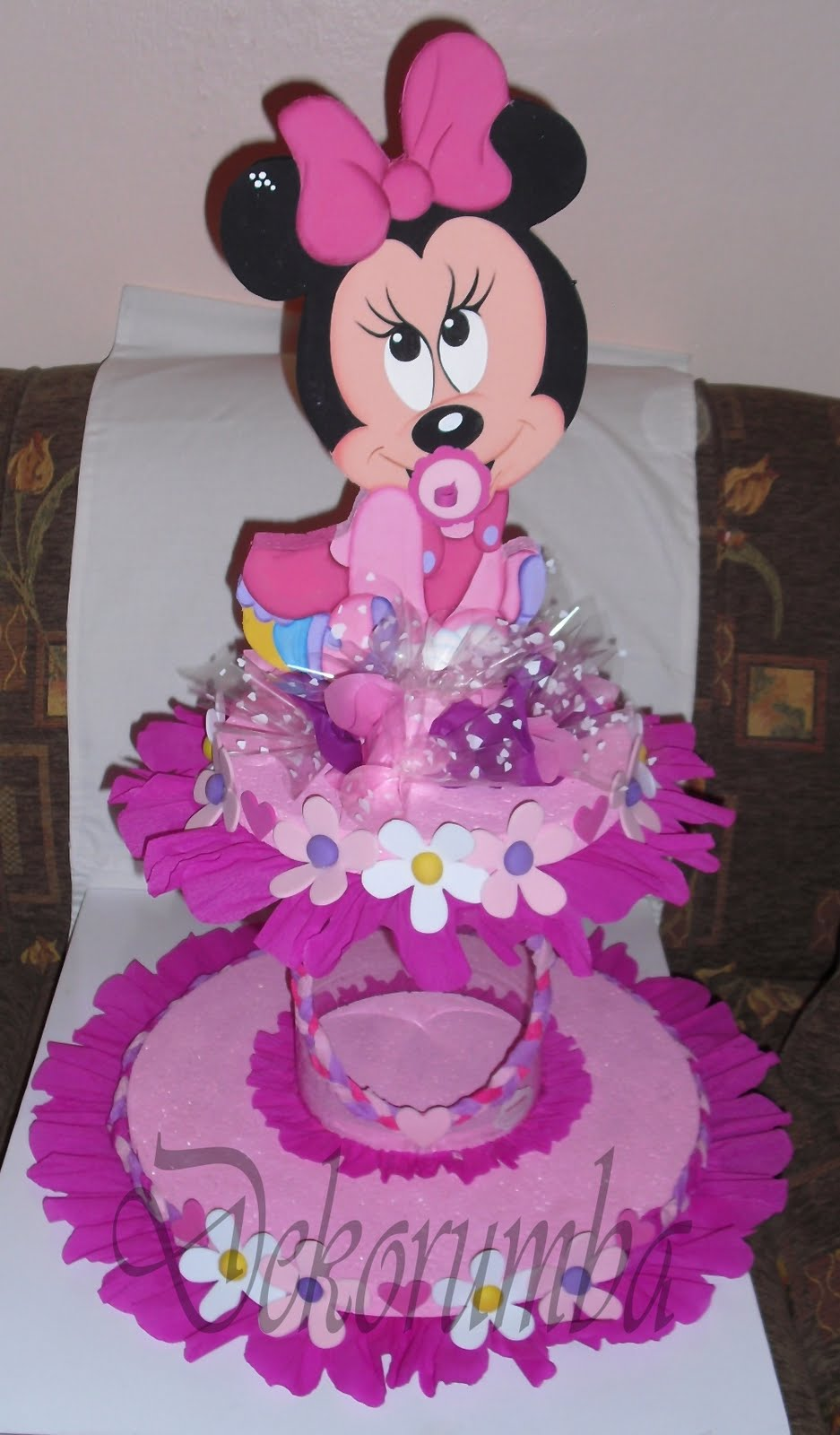 DekoRumba: Chupetero con dispensador - Minnie bebe