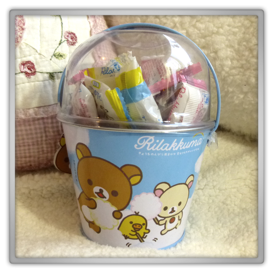 Blippo haul review shoplog rilakkuma kiiroitori korilakkuma bucket fruit gummies kawaii review