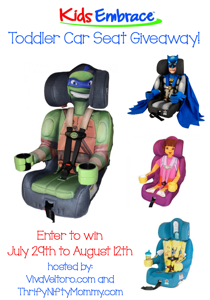 KidsEmbrace Character Car Seat Giveaway