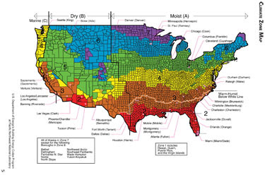 Climate Zone Map Of The United States.Commercial Spray Polyurethane Roofing In The Midwest The Importance