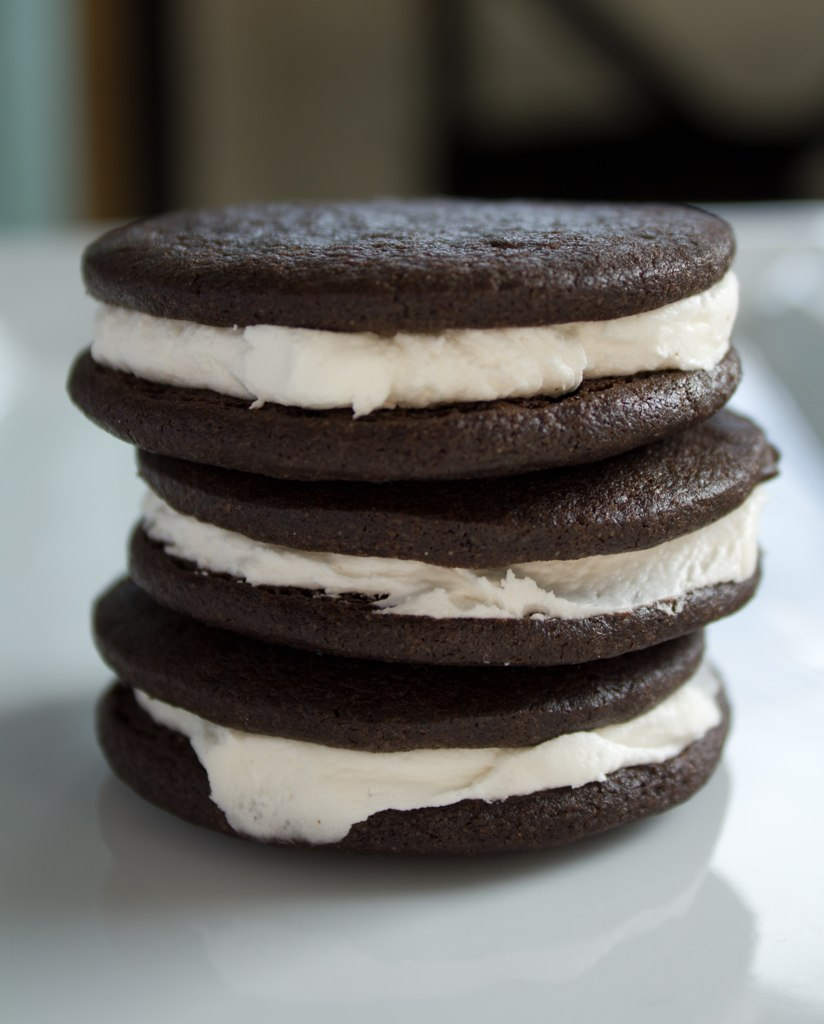 Indulge: Chocolate Wafer Sandwich Cookies with Vanilla and ...