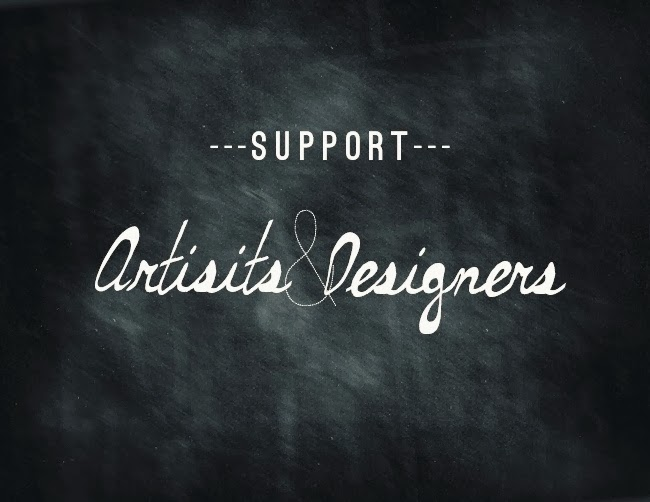 support artists and designers typography