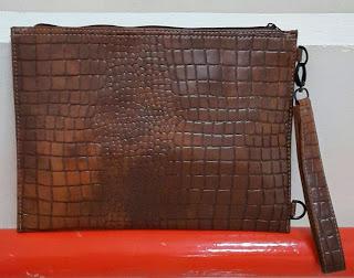 gambar clutch bag terbaru untuk pria dan wanita motif sisik buaya , harga murah