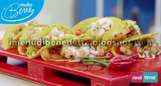 Tacos di Gamberi di Benedetta Parodi