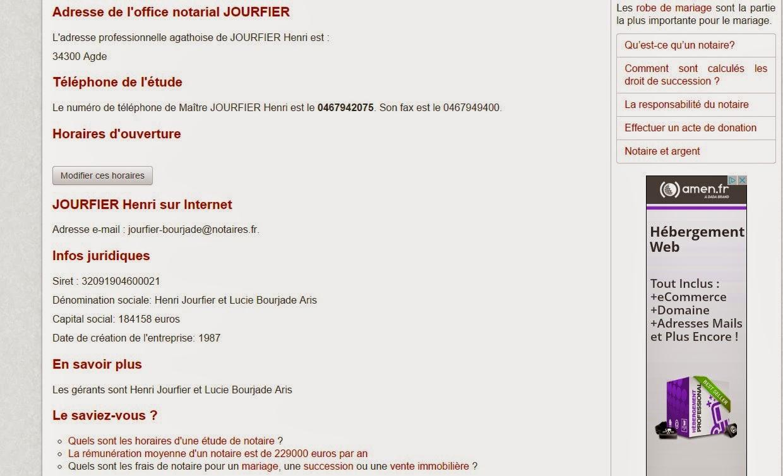 les notaire d(agde en colère sur le blog de philippe Le Bras