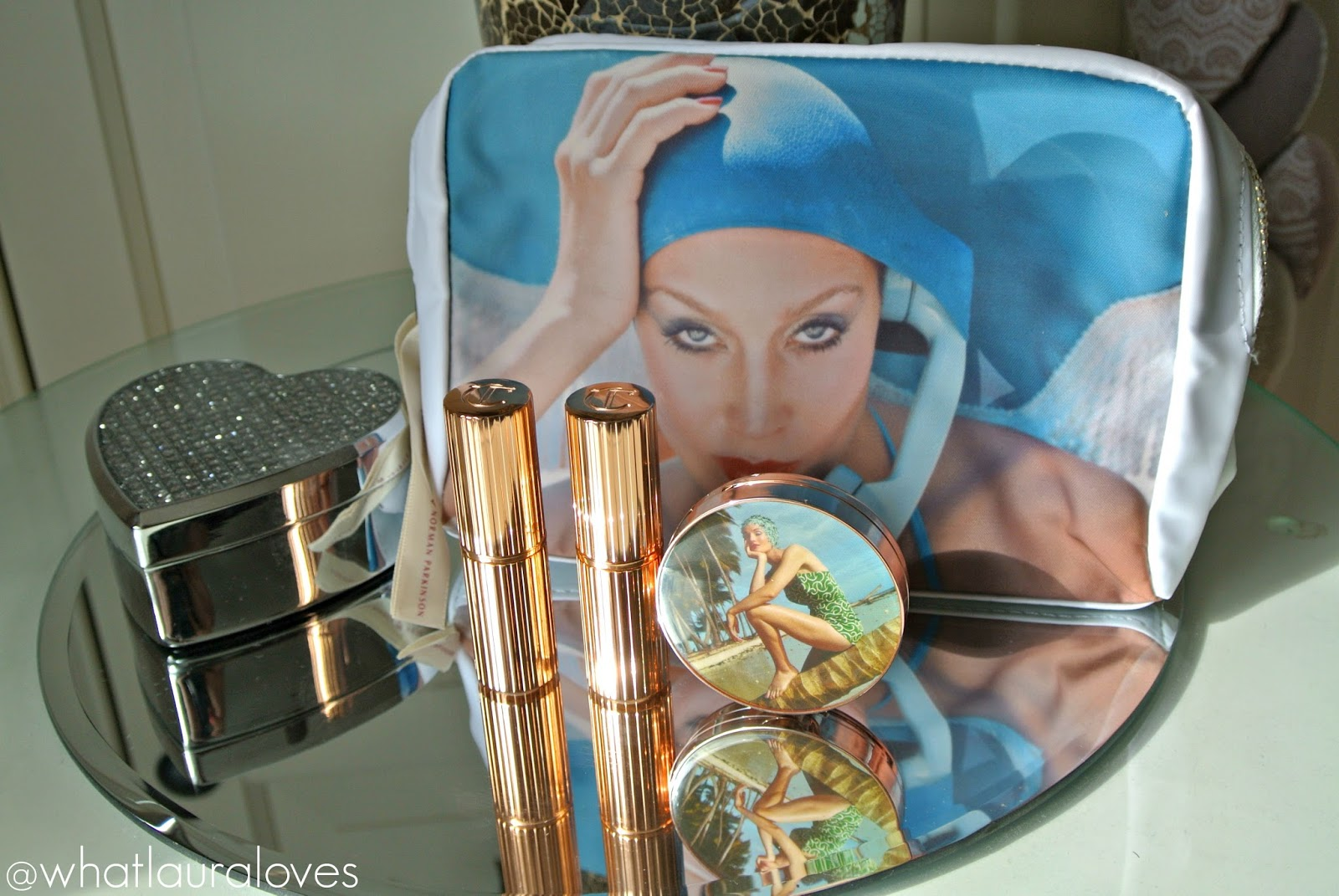 Charlotte Tilbury x Norman Parkinson Collections 'On Call' Makeup Bag, Matte Revolution Lipsticks, Colour of Youth