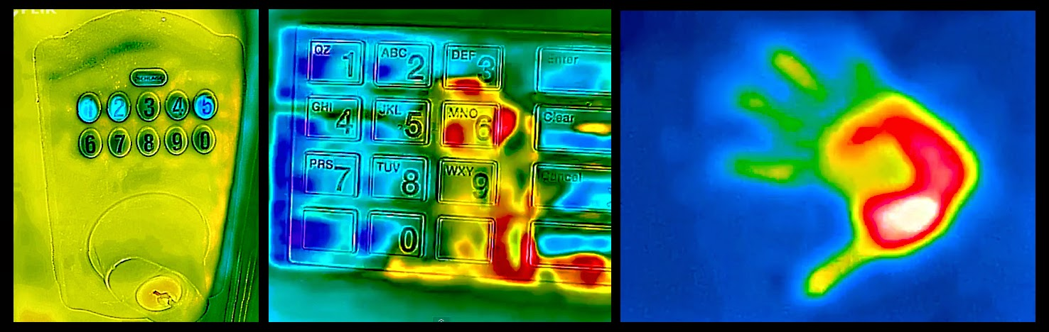 Screen Captures From The Video:  Various Thermal Images