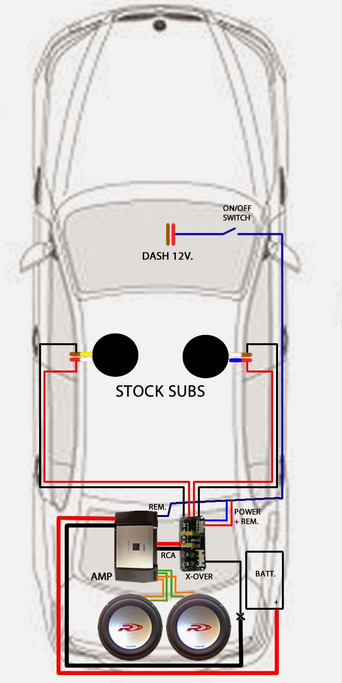E60_aftermarket_amp_subs_wiring_diagram beemer lab formerly planet 5 [e60] audio wiring amp subs into e46 speaker wiring diagram at highcare.asia