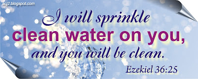 sprinkle clean water