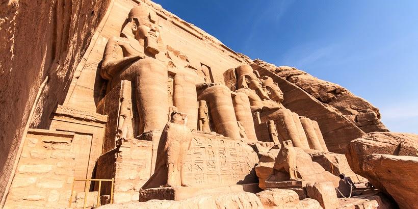 Nap-templom. Abu-Szimbel, Egyiptom.