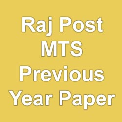 Rajasthan Postal Circle MTS Exam Previous Year Question Paper