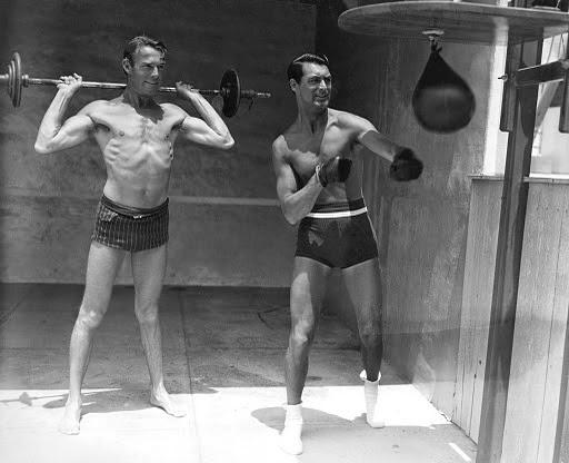 Cary Grant con su compañero Randolph-Scott