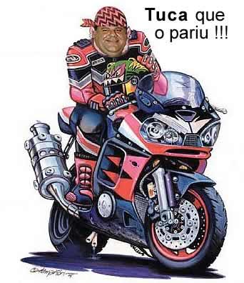 Alex Tabet em sua superbike