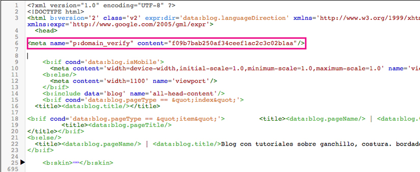 pantallazo html plantilla blogger