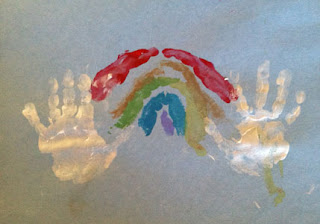 handprint art, rainbow, crafts for kids