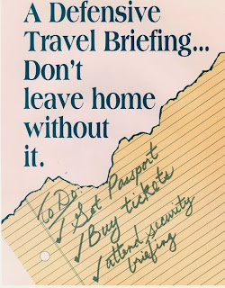 foreign travel security poster