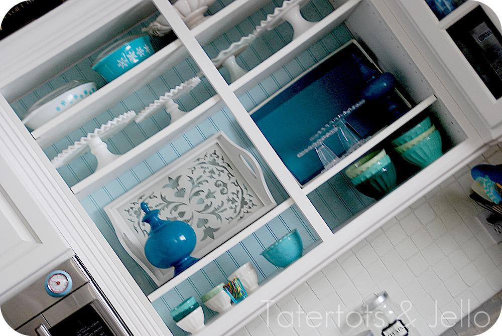 Three steps to achieve the open cabinet look through the front door