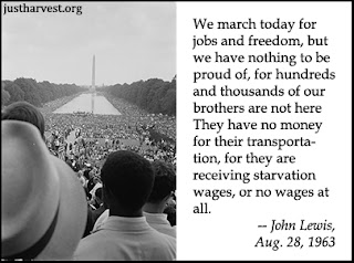 crowds gathered at Reflecting Pool, 1963 Great March on Washington, John Lewis quote